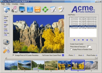 Acme Photo ScreenSaver Maker 3.21