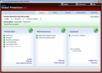 Panda Global Protection 2010 Build 3.01.00