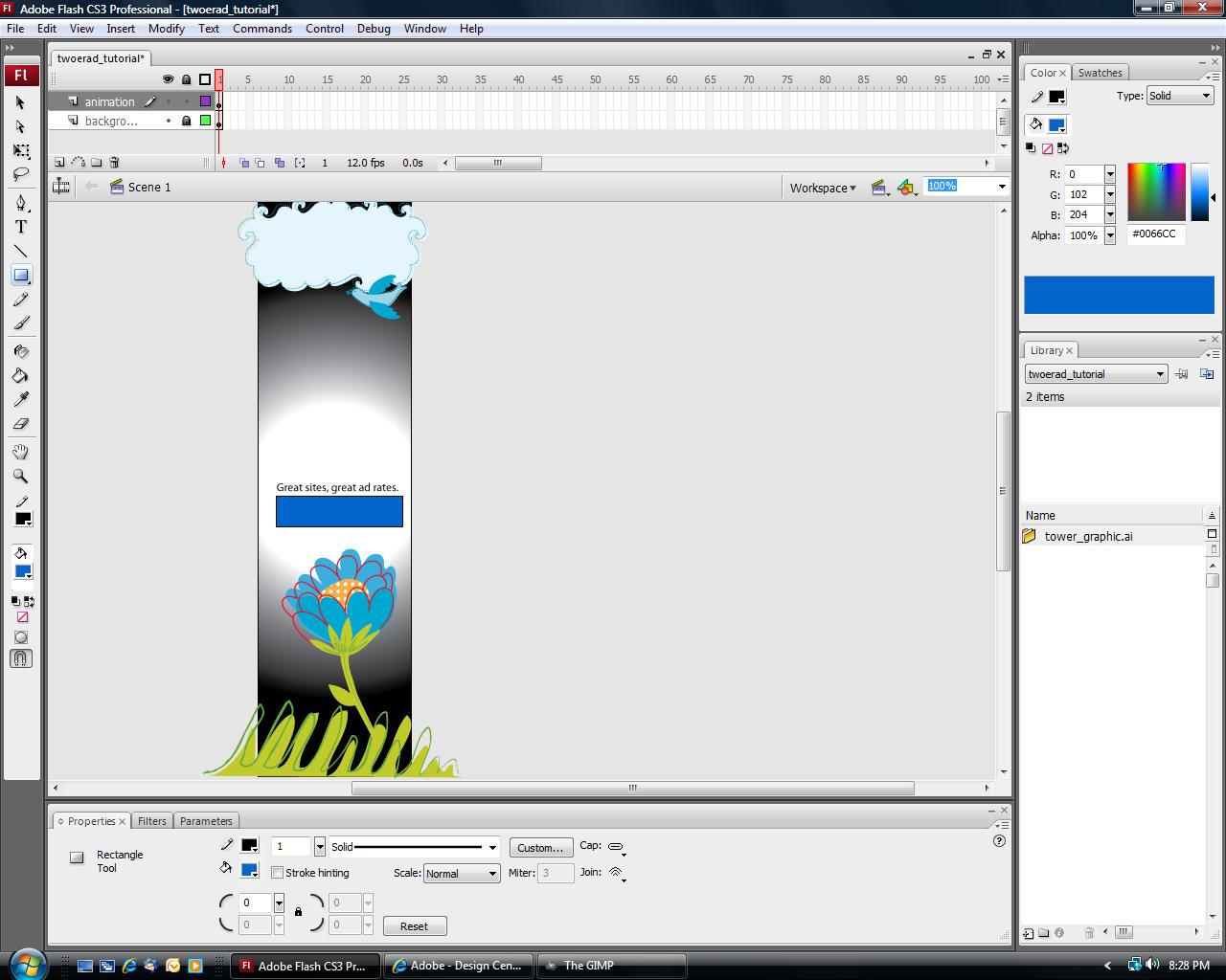 Portable Adobe Flash CS3.