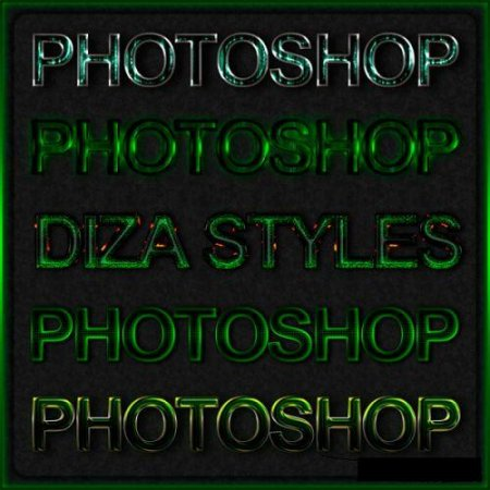 Green styles for Photoshop