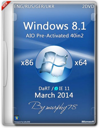Windows 8.1 AIO 40in2 Pre-Activated DaRT 8.1 (x86/x64) (2014) [ENG/RUS/GER/UKR]