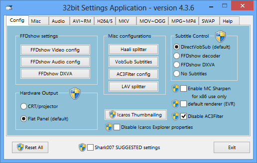 ADVANCED Codecs for Windows 7/8/10 7.4.6 + x64 / Win7codecs