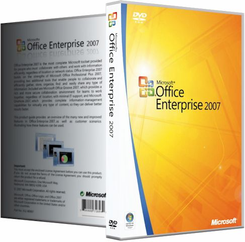 Microsoft Office 2007 Enterprise + Visio Premium + Project Pro + SharePoint Designer / Standard / Professional / Blue / RePack