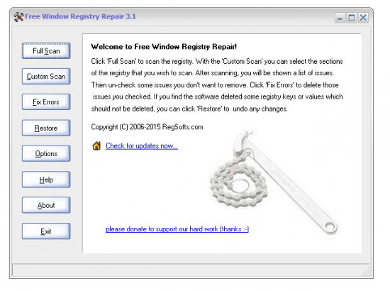 Free Window Registry Repair 3.6