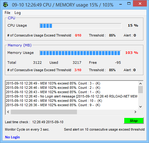 CPU Monitor and Alert v4