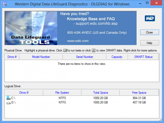 Western Digital Data Lifeguard Diagnostics 1.29.0.0