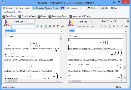 FontViewOK 4.18 + x64 + Portable
