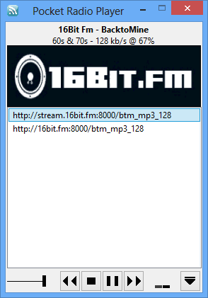 Pocket Radio Player 160124 / 160207 Beta