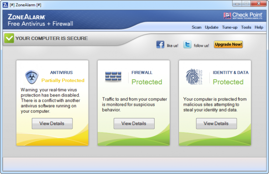 ZoneAlarm Free Antivirus + Firewall 14.1.011.000