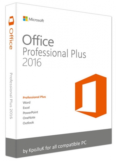 Microsoft Office 2016 Professional Plus + Visio Pro + Project Pro / Standard 16.0.4312.1000 RePack by KpoJIuK