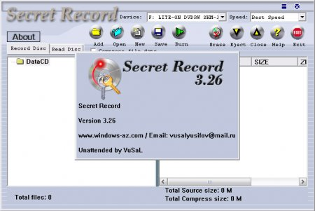 Secret Record 3.26 (Unattended by VuSaL)