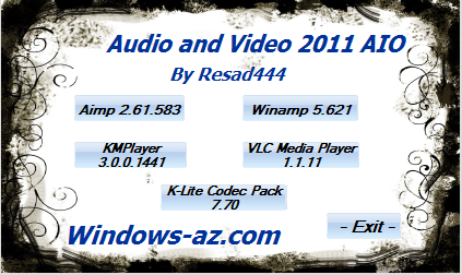 Audio and Video 2011 AIO