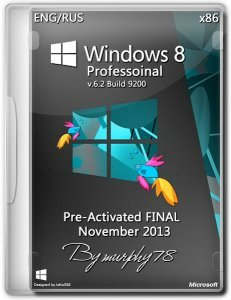 Windows 8 Professoinal x86 Pre-Activated FINAL November 2013 (Русский + Английский)
