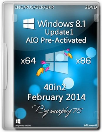 Windows 8.1 Update1 AIO 40in2 Pre-Activated DaRT 8.1 2014 (x86/x64)
