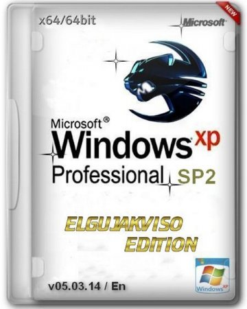 Windows XP Pro SP2 x64 Elgujakviso Edition (v05.03.14) [En]