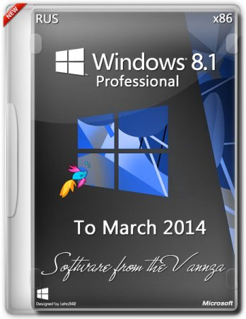 Windows 8.1 x86 Professional Vannza to March (2014)[Ru]