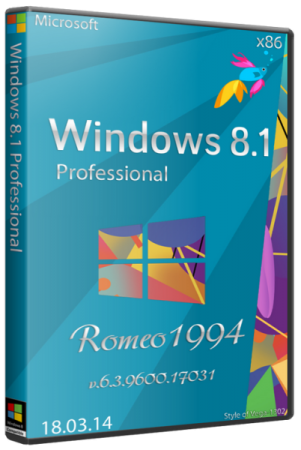 Windows 8.1 Professional v.6.3.9600.17031 (x86) (18.03.14) RUS