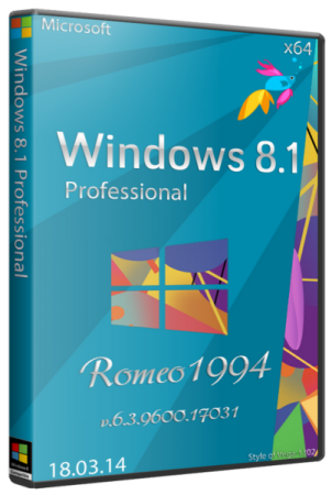 Windows 8.1 Professional v.6.3.9600.17031 (x64) (18.03.14) RUS