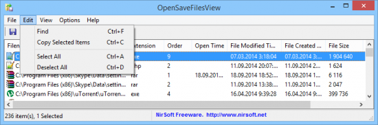 OpenSaveFilesView v1.08 + x64
