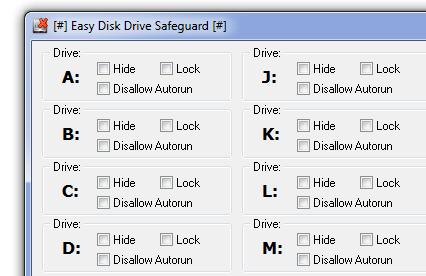 Easy Disk Drive Safeguard 3.8