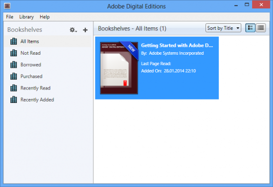 Adobe Digital Editions 4.5.126523 + Portable