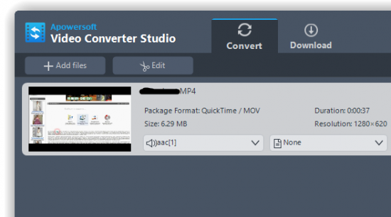 Apowersoft Video Converter Studio 4.3.9