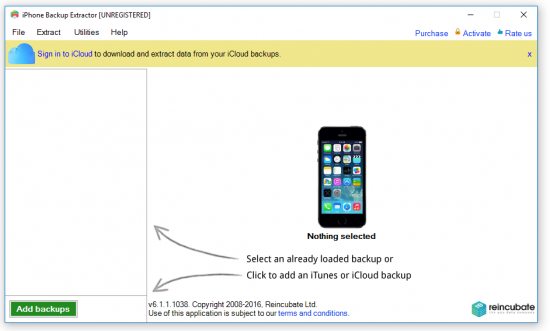 iPhone Backup Extractor 7.2.5.1322
