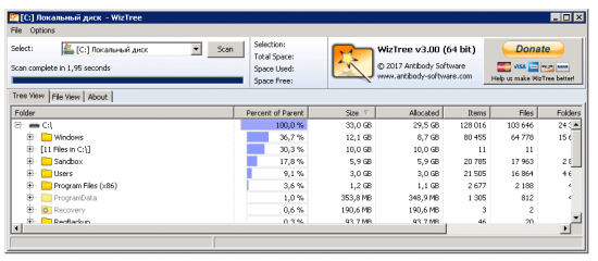 WizTree 3.19 + Portable